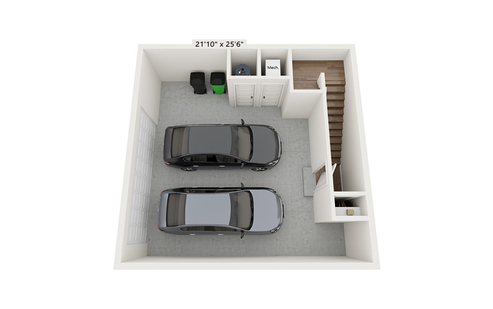 Spyglass Hill - 3 bedroom floorplan layout with 3.5 baths and 2058 square feet. (Floor 1)