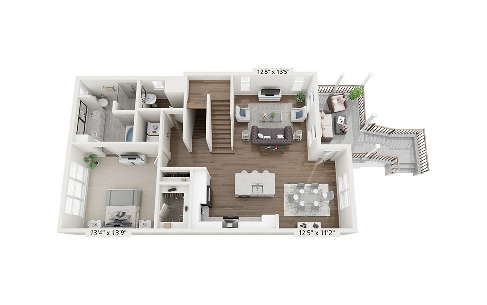 Mount Mitchell - 3 bedroom floorplan layout with 3.5 baths and 2083 square feet. (Floor 2)